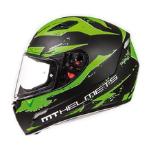 Шлем MT MUGELLO vapor MATT BLACK FLUOR GREEN