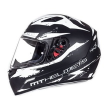 Шлем MT MUGELLO vapor MATT BLACK WHITE